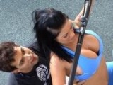 Married Milf Brunette Gets Fucked at Gym