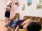 Horny Mom Decide To Have A Little Fun With Sleeping Boy