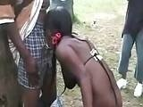 African Hookers Fucked Black Guys in Public Park