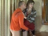 Naughty Guy Grabbed His New Mature Maid For Pussy