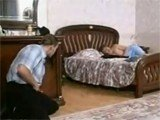 Young Man Disturbs His GF Mommy While Sleeping