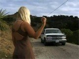 Hot Blonde Hitchhiker Stopped The Wrong Car This Time