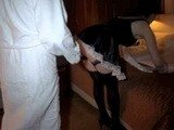Hot Maid didnt Expect Horny Guy Behind her