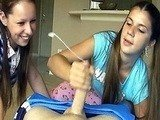 Naughty Twin Teen Sisters Checking Their Boyfriends Dick Size