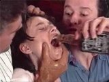 Poor Girl Forced to Drink Whisky and Roughly Fucked