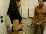 Hot Wife Caught Her Hubbys Brother Wanking in the Bathroom
