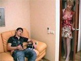 Horny Mom Caught Boy While Wanking And Attack Him