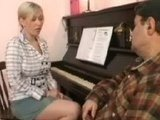 Piano Lesson Turns Into Hard Ass Fucking