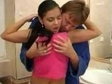 Horny Dad Seduces Sons Slutty Girlfriend In Bathroom