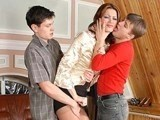 Horny mom teaching unexperienced guys how to fuck