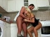 Hot Housewife Works Up Lucky Handyman